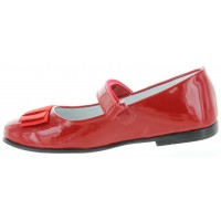Moki Red - Red Leather Dress Shoes for Girls