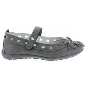 Support shoes for girls in gray leather