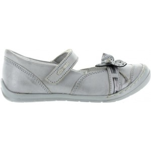 Gray leather shoes for children for weak ankles