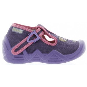 House shoes for a child from Europe in purple color