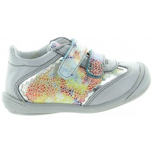 High top sneakers for girls with support in gray leather