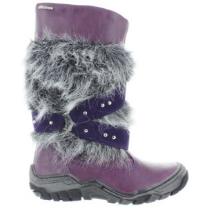 Boots made in Europe purple for snow