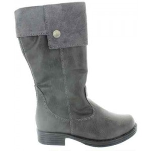 Leather boots for kids knee length