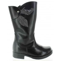 Alexia Black - Fashion Black Waterproof Snow Boots for Girls