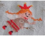 Baby tights from Germany decorated with fairy in blue