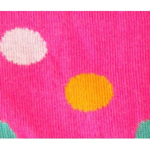 Polka dot tights for kids in pink color colorful