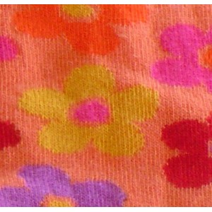 Kids tights in orange color with flowers European