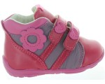 Leather boots sneakers for a toddler girls stylish high tops