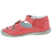 Weronika Orange - Corrective High Top Leather Shoes