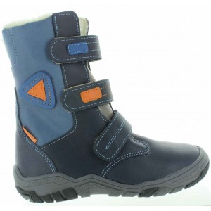 Corrective leather snow boots with support