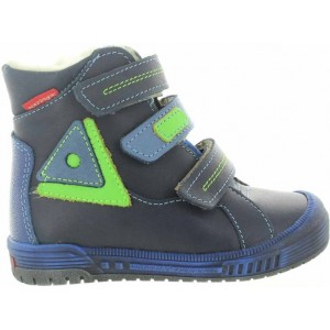 High top boots for boys in navy leather