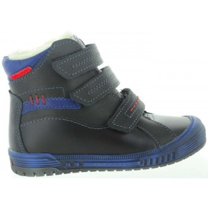 Boots with support in black leather for boy