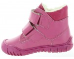 Lamb leather pink wool boots