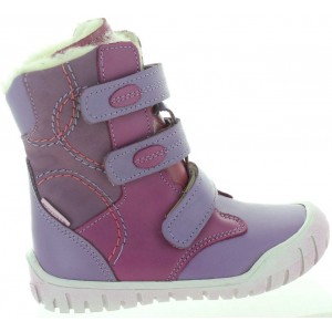 Snow boots for girls with arches in purple leather