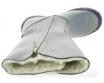 Fashion waterproof boots for kids in gray leather