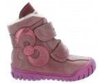 Leather waterproof snow boots for a girl