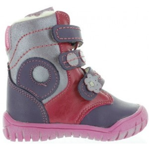 Warm purple boots for girls for winter