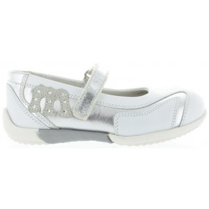 Sneakers for girls in white ortho leather