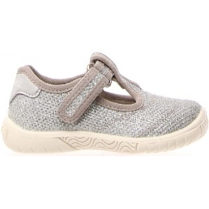Arch support beige canvas shoe for kids