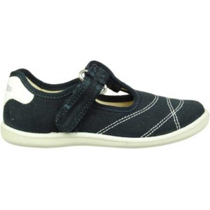 Shoes for summer in navy canvas color for a child