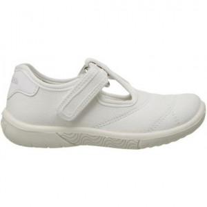Child casual with arch support white canvas shoes