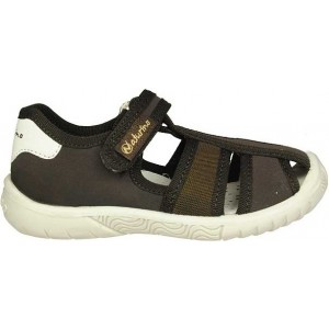 Canvas shoes for boy brown fisherman style