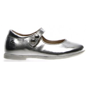 Leather baby silver shoes