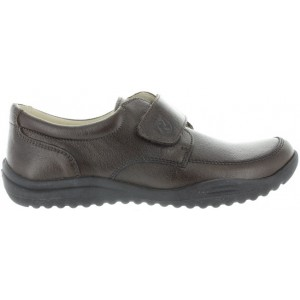 School shoes for a boy in brown leather