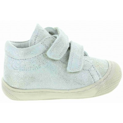 European silver baby shoes and sneakers