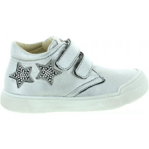 High tops for kids in silver leather