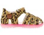 Cool cheetah print closed toe sandals