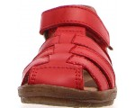 Sandals in red leather best for summer camp