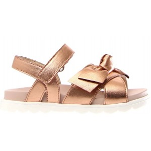 Gold sandals for a girl that are unique