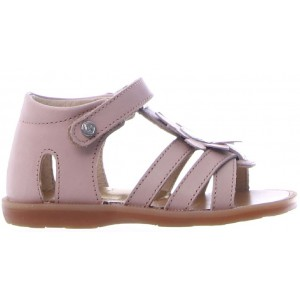 Girls sandals with arch closed back
