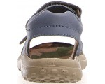 Boys in blue jeans leather wide sandals