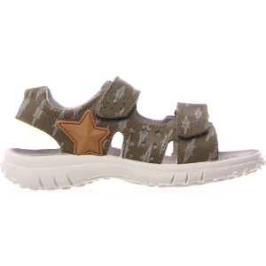 Brown wide sandals for boy