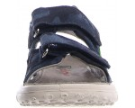 Supportive sandals in navy leather