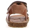 Sandals for a boy in brown dressy leather