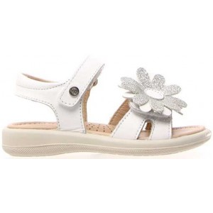 Sandals for a girl in white leather