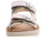 Silver sandals for girls with high instep girls
