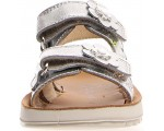 Silver girls sandals by Naturino