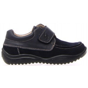 Boys from Europe in navy leather dress shoes