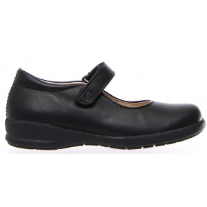 Shoes for girl in black leather from Naturino
