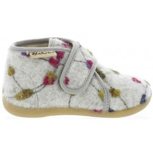 Wool slippers with support for toddler