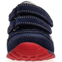 Sammy Navy - Natural Leather Orthopedic Shoes for Toddler