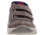 Blue leather shoes for daily wear that are durable