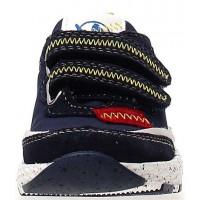 Romp Navy - Wide Hard Bottom Walking Shoes for Kids