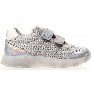 Silver leather girls Naturino sneakers