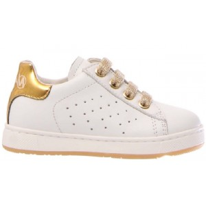 Leather sneakers for girls in classic white leather