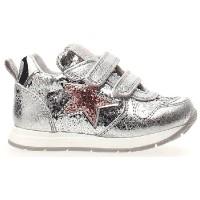 Ziga Gray - Pediatric Orthopedic Girls Sneakers in Silver Leather
